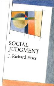 Cover of: Social Judgment (Mapping Social Psychology)