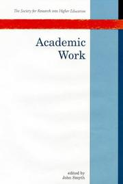 Cover of: Academic work |