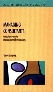Cover of: Managing consultants