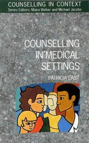 Cover of: Counselling in medical settings