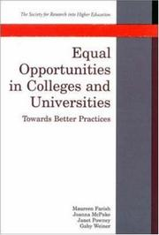 Cover of: Equal Opportunities in Colleges and Universities |
