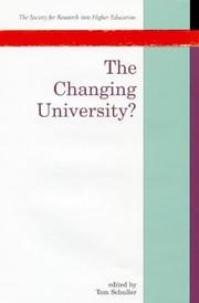 Cover of: The changing university? |