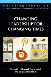 Cover of: Changing leadership for changing times