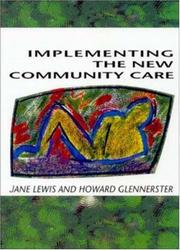 Cover of: Implementing the new community care | Lewis, Jane