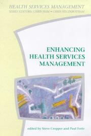 Cover of: Enhancing health services management |