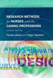 Cover of: Research methods for nurses and the caring professions | Pamela Abbott