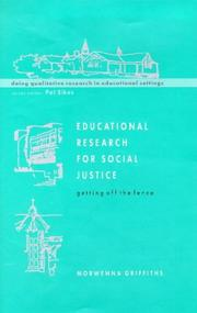 Cover of: Educational research for social justice