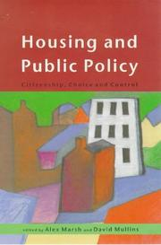Cover of: Housing and public policy |