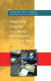 Cover of: Supporting language and literacy development in the early years