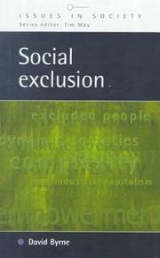 Cover of: Social Exclusion (Issues in Society)
