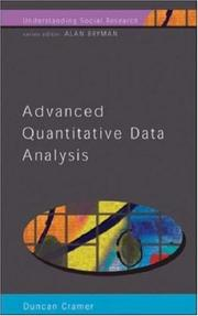 Cover of: Advanced quantitative data analysis