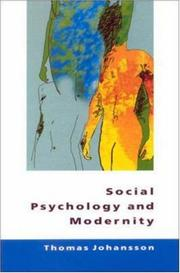 Cover of: Social Psychology and Modernity