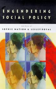 Cover of: Engendering social policy