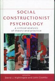 Cover of: Social Constructionist Psychology |