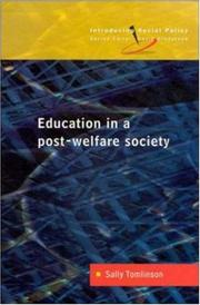 Cover of: Education in a Post-Welfare Society (Introducing Social Policy)