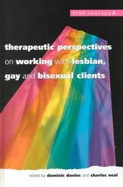 Cover of: Therapeutic Perspectives on Working With Lesbian, Gay and Bisexual Clients (Pink Therapy, 2) |