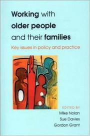 Cover of: Working With Older People and Their Families | Nolan