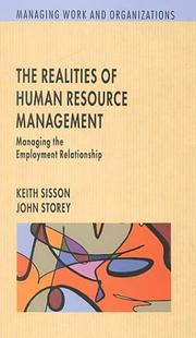 Cover of: The realities of human resource management