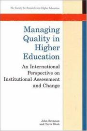 Cover of: Managing Quality in Higher Education | John L. Brennan