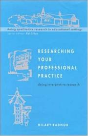 Cover of: Researching Your Professional Pratice | Hilary A. Radnor