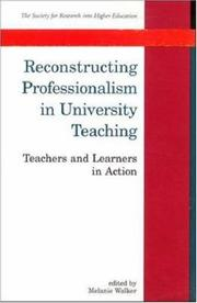 Cover of: Reconstructing Professionalism in University Teaching