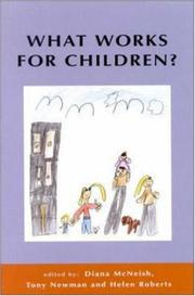 Cover of: What Works for Children? | Mcneish