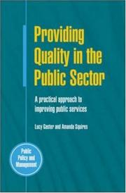 Cover of: Providing quality in the public sector