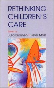 Cover of: Rethinking children's care