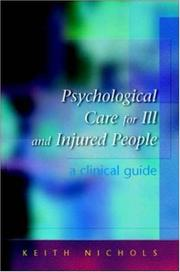 Cover of: Psychological Care for the Ill and Injured