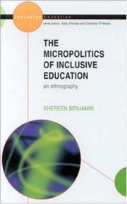 Cover of: micro/politics of inclusive education | Shereen Benjamin