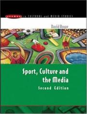 Cover of: Sport, Culture and the Media (Issues in Cultural and Media Studies) | David Charles Rowe