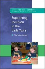 Cover of: Supporting Inclusion in the Early Years (Supporting Early Learning)
