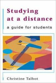 Studying at a Distance by Christine J Talbot