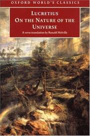 Cover of: On the Nature of the Universe | Titus Lucretius Carus
