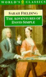 Cover of: The Adventures of David Simple | Sarah Fielding