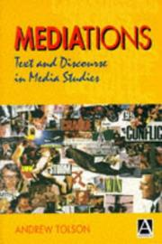 Cover of: Mediations | Andrew Tolson
