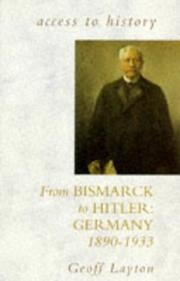 Cover of: From Bismarck to Hitler