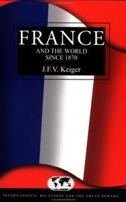 Cover of: France and the world since 1870