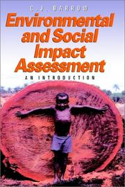 Cover of: Environmental and Social Impact Assessment | C. J. Barrow