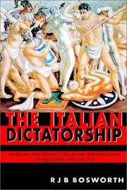 Cover of: The Italian dictatorship