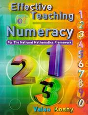 Cover of: Effective Teaching of Numeracy