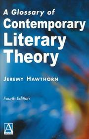 Cover of: A glossary of contemporary literary theory