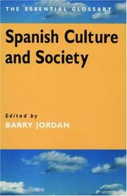 Cover of: Spanish Culture and Society