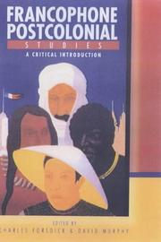 Cover of: Francophone Postcolonial Studies |
