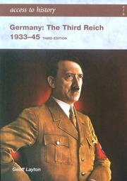 Cover of: Germany the Third Reich 1933-1945