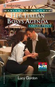 Cover of: Her Italian Boss's Agenda (Larger Print Romance: the Rinucci Brothers) | Lucy Gordon