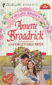 Cover of: Unforgettable Bride (Virgin Brides)