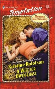 Cover of: Wife For Owen Chase (Montana Matchmakers)