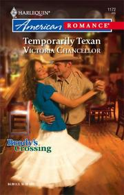 Cover of: Temporarily Texan (Harlequin American Romance Series) | Victoria Chancellor