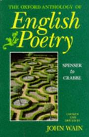 Cover of: The Oxford Anthology of English Poetry: Volume I | Wain, John.